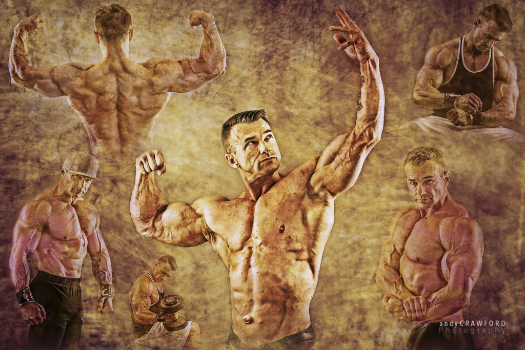 Bodybuilding collages by Andy Crawford Photogtraphy